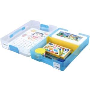 アーテック お道具箱 ブルー 24×34×6.5cm 仕切り付き 学校机 対応サイズ 3600