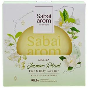 サバイアロム(Sabai-arom) マリラー ジャスミン リチュアル フェイス&ボディソープバー (石鹸) 100g【JAS】【001】 sabai-arom-store