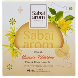 サバイアロム(Sabai-arom) ロイヤル サイアミーズ ブロッサムズ フェイス&ボディソープバー (石鹸) 100g【SB】【001】 sabai-arom-store
