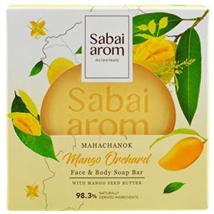 サバイアロム(Sabai-arom) マンゴー オーチャード フェイス&ボディソープバー (石鹸) 100g【MAN】【001】 sabai-arom-store