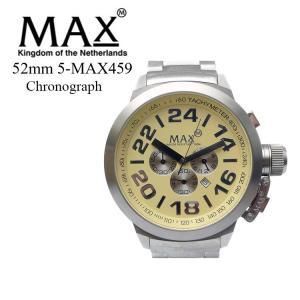 MAX XL WATCHES 5-MAX459 腕時計 クロノグラフ機能 日付表示機能 2年保証付 メタルベルト 50m防水 日本製クオーツ採用 オランダ スーツ カジュアル|sabb