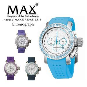MAX XL WATCHES 5-MAX507 腕時計 クロノグラフ機能 日付表示機能 2年保証付 メタルベルト 50m防水 日本製クオーツ採用 オランダ スーツ カジュアル|sabb