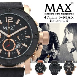 MAX XL WATCHES マックス メンズ 腕時計 クロノグラフ レザー ビジネス 5-MAX661 673 674 オランダ ヨーロッパ EU 大きい エックスエル ウォッチズ 2年保証書 sabb