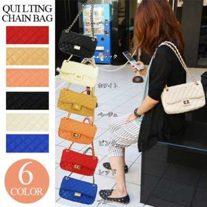 キルティングチェーンバッグバッグ 秋冬バッグ レディースバッグ ショルダーバッグ 6color セール|sabb