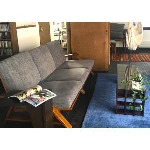 RM Sofa 3人掛けソファ 選べる背もたれフラットタイプ ナラ無垢材|sabisabi-web