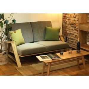RM Sofa 2人掛けソファ 選べる背もたれフラットタイプ ナラ無垢材|sabisabi-web