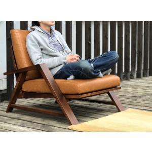 RM Sofa 1人掛けソファ 選べる背もたれフラットタイプ ナラ無垢材|sabisabi-web