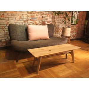 Sofa Table SA 幅108cm 選べる奥行2サイズ ローテーブル サイドテーブル ナラ無垢材 sabisabi-web