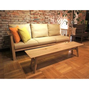 Sofa Table SA 幅144cm 選べる奥行2サイズ ローテーブル ナラ無垢材 sabisabi-web