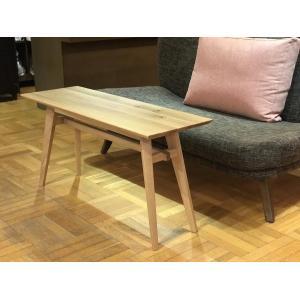 Living Table SA 幅108cm 選べる奥行2サイズ リビングテーブル ソファテーブル サイドテーブル ナラ無垢材 sabisabi-web