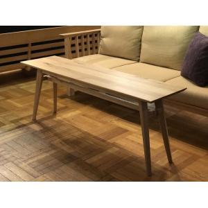 Living Table SA 幅144cm 選べる奥行2サイズ リビングテーブル ソファテーブル ナラ無垢材 sabisabi-web