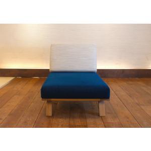 BM Sofa 1人掛けソファ 選べる背もたれフラットタイプ ローソファー ナラ無垢材|sabisabi-web