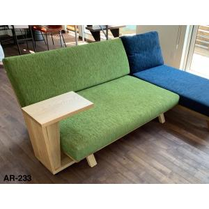 BM Sofa 2人掛けソファ 選べる背もたれフラットタイプ ローソファー ナラ無垢材|sabisabi-web