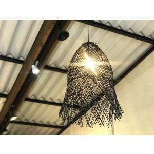 ラタン Lamp Cumi Long ブラック|sabisabi-web