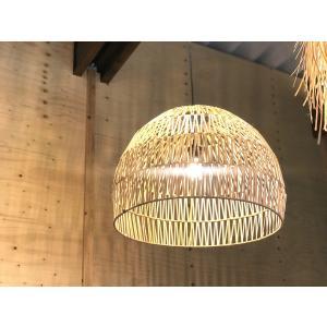 バンブー Lamp Bulat ナチュラル Sサイズ|sabisabi-web