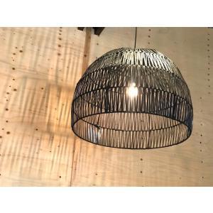 バンブー Lamp Bulat ブラック Lサイズ|sabisabi-web