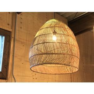 ラタン Lamp Nami Lサイズ|sabisabi-web