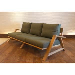 RM Sofa 3人掛けソファ 選べる背もたれシリコン綿タイプ ナラ無垢材|sabisabi-web