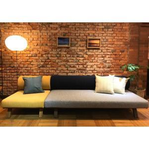 BM Sofa 3人掛けソファ 選べる背もたれシリンダータイプ ローソファー ナラ無垢材|sabisabi-web