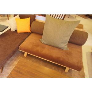 BM Sofa 2人掛けソファ 選べる背もたれシリンダータイプ ローソファー ナラ無垢材|sabisabi-web