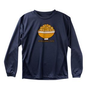 バスケ ロンT メンズ ウェア 「バスケットボール丼」 長袖 Tシャツ 練習着 (ノースアイランド)...