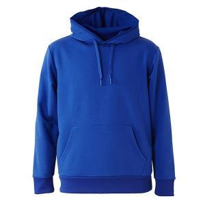 パーカー メンズ レディース 青 ブルー xs s m l xl xxl ss 2l 3l スウェット プルオーバー ドライ 厚手 吸水 長袖 フード 無地 UV 速乾 保温 大きい トップス|sac