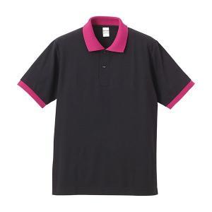 ポロシャツ メンズ レディース 半袖 シャツ ブランド ドライ 無地 大きい 小さい UVカット スポーツ 鹿の子 男 女 消臭 速乾 xs s m l 2l 3l 4l 5l 黒 ピンク|sac