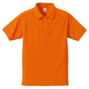 ポロシャツ メンズ レディース 半袖 シャツ ブランド ドライ 無地 大きい 小さい UVカット スポーツ 鹿の子 男 女 消臭 速乾 xs s m l 2l 3l 4l 5l 人気 橙 色|sac