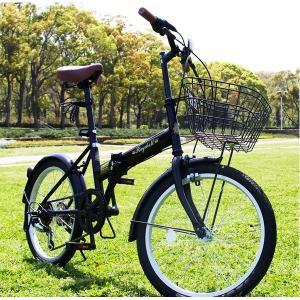 折りたたみ自転車 20インチ/ブラック(黒) シマノ6段変速 〔Raychell〕 レイチェルFB-206R〔代引不可〕 折り畳み自転車|sac