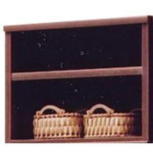 上置き(オープンラック用棚) 幅65cm 木製(天然木) 棚板付き 日本製 ブラウン 〔Glacso...