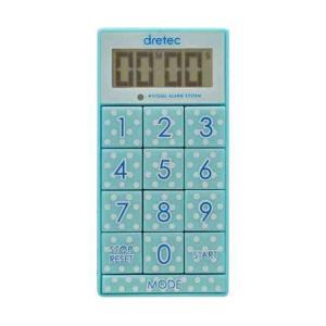 (まとめ)DRETEC キッチンタイマー 光と音で時間をお知らせ デジタルタイマー スリムキューブ ...