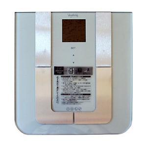 ボディバランスチェッカー/体重計 〔シルバー〕 文字バックライト付き 体重・体脂肪率・体水分率・体筋肉率・推定骨量 GD-BF950〔代引不可〕|sac
