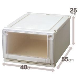 収納ボックス/衣装ケース 『Fits フィッツユニットケース』 幅40cm×高さ25cm 日本製 収納用品|sac