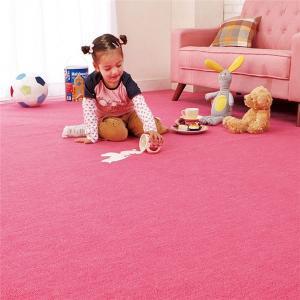 選べる撥水・抗菌・防臭カラーカーペット/絨毯 〔長方形 88cm×176cm/ショッキングピンク〕 江戸間1畳 フリーカット可 日本製 カーペット マット|sac