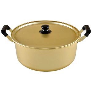 アルミ鍋/両手鍋 〔36cm〕 ガスコンロ専用 アルミニウム合金製 蓋付き 『豊味庵』 鍋 圧力鍋|sac