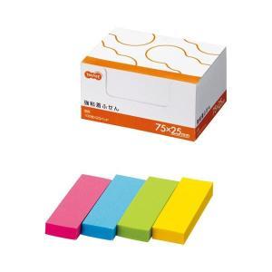 【商品名】 TANOSEE 強粘着ふせん75×25mm 4色 1セット(60冊:20冊×3パック) ...