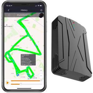 4G GPS 発信機 リアルタイム 小型 浮気調査 勤怠管理 車両取付 スマホアプリ ロガー 車載 SIM契約不要で30日間使い放題の画像