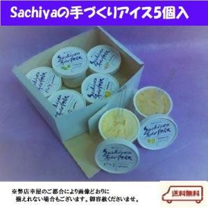 夏季限定!Sachiyaの手づくりアイス5個入り【送料無料】(北海道は918円、沖縄は704円必要) sachiya224873