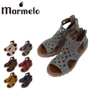 マルメロ パンチングサンダル 日本製 レディース 06-04-30004 marmelo 靴 シューズ レザー サックスバーPayPayモール店