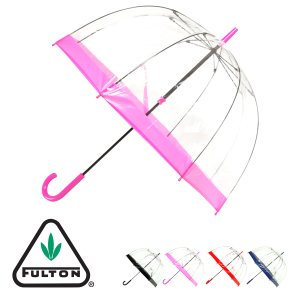フルトン 傘 長傘 ビニール傘 レディース メンズ 手開き式 雨傘 深張 21-152-52950-00 FULTON Birdcage|サックスバーPayPayモール店