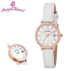 エンジェルハート 腕時計 リュクス LU26P-WH レディース AngelHeart ステンレススチール カーフ革 ミネラルガラス|サックスバーPayPayモール店