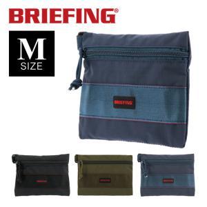 ブリーフィング ポーチ メンズ フラットポーチ M MW BRM181608 BRIEFING 小物入れ リップストップナイロン  [PO10] サックスバーPayPayモール店