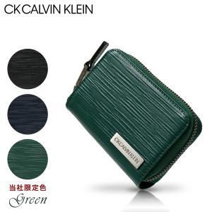 シーケー カルバンクライン キーケース スマートキー タットII メンズ 808612 CK CALVIN KLEIN | ラウンドファスナー 本革 レザー ブランド専用BOX付き|sacsbar