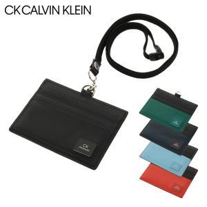 シーケー カルバンクライン IDカードホルダー ストラップ付き ワキシー メンズ 809626 CK CALVIN KLEIN 横型 レザー [PO5]|サックスバーPayPayモール店