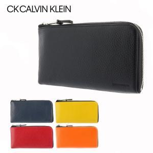 シーケー カルバンクライン 長財布 L字ファスナー メンズ ラップ 820221 CK CALVIN KLEIN スマートクラッチ 多機能 本革|sacsbar