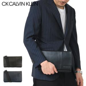 シーケー カルバンクライン クラッチバッグ メンズ ブルーノll 833211 CK CALVIN KLEIN 2WAY ショルダー付き 本革|sacsbar