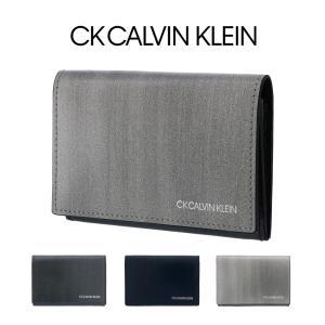 シーケー カルバンクライン 名刺入れ ボルダー 839612 CK CALVIN KLEIN カードケース メンズ 本革 牛革|sacsbar