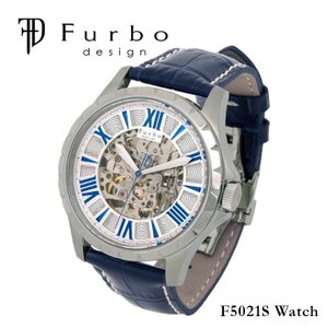 フルボデザイン Furbo design 腕時計 F5021S  メンズ 自動巻き レザーベルト  ...