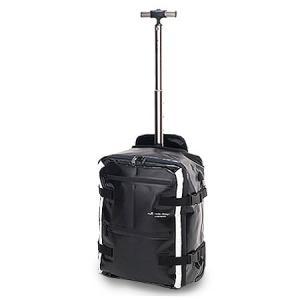 2月28日12時まで+9倍 HIDEO WAKAMATSU ターポリン2WAYキャリードルフィン 85-75241 ブラック 48cm ヒデオワカマツ ソフトキャリー スーツケース バックパック