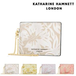 キャサリンハムネット KATHARINE HAMNETT パスケース 430 ナデシコ  定期入れ チェーン付 レディース レザー  [PO10]|サックスバーPayPayモール店